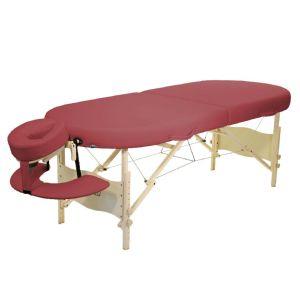 Classic Kahuna Set Liege 195x75 cm Höhe 61-86,5 cm burgund mobile Massageliege in Hawaii-Form