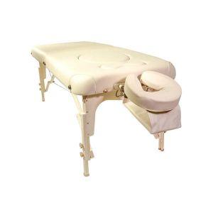 Classic Femina Set Liege 184x76 cm Höhe 61-86,5 cm crema Massageliege mit Zubehör von Clap Tzu