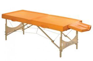 Classic Ayurveda Set Liege 202x80 cm Höhe 60-86 cm burgund Massageliege mit Zubehör von Clap Tzu