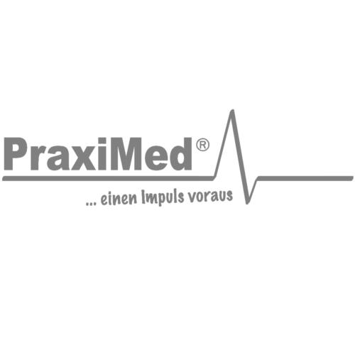 Metall-Gehstock links grau/eloxal Druckknopf