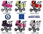 Kombipuppenwagen Zeki de Luxe Puppenkutsche von Zekiwa mit Kuscheltasche