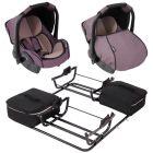 Babyschalenset mit Adapter für Sportduo Autositzschalen von Zekiwa für Zwillinge