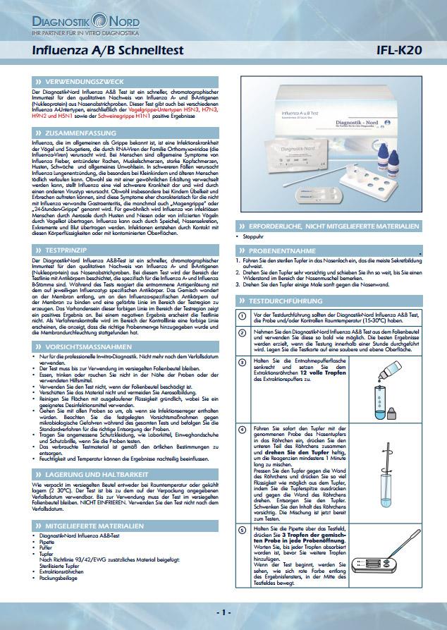 PraxiMed Diagnostik Nord Influenza A/B-Schnelltest